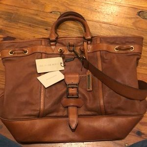 Burberry Large Leather Tote Weekender
